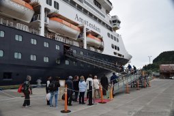 Gangway at Ketchikan Alaska Cruise Terminal to Board MS Amsterdam