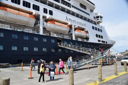 Holland America Amsterdam Cruise Ship Docked in Ketchikan Alaska
