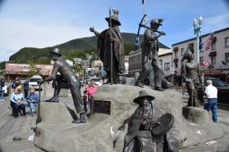 The Rock Statues at Ketchikan Alaska Cruise Terminal