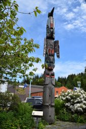 Chief Kyan Totem Pole at Whale Park Ketchikan