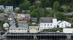 First Lutheran Church Ketchikan Seen from Tongass Narrows