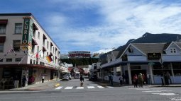 Intersection of Front Street and Mission Street in Ketchikan Alaska