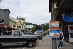 Ketchikan Downtown District Sign on Spruce Mill Way