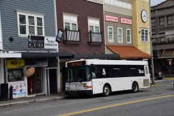 Ketchikan Free Shuttle Bus Parked on Front Street
