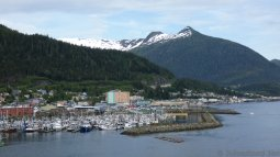 Ketchikan Marina with Mountain in the Background