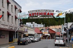 Ketchikan Welcome Sign on Mission Street