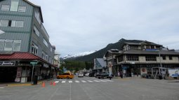 Looking North on Spruce Mill Way in Ketchikan