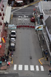 Mission Street in Ketchikan Alaska Viewed from Above