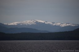 Snow Peaked Moutains and Alpine Forests near Ketchikan Alaska