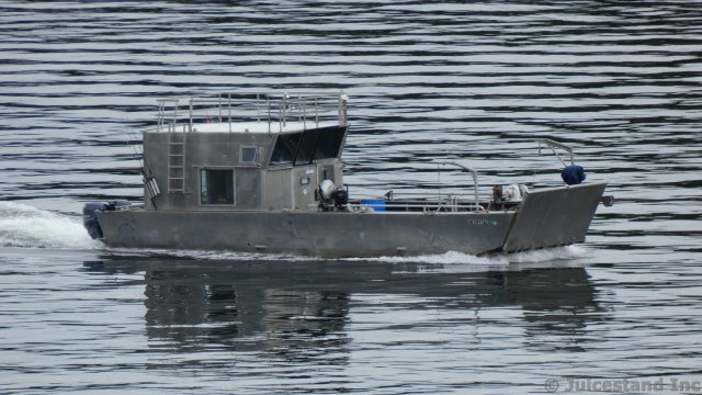 Steel Fishing Boat in Tongass Narrows Ketchikan