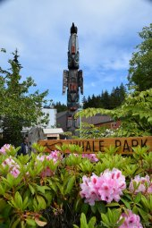 Totem Pole at Whale Park Ketchikan