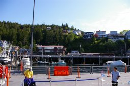 Coming down the ramp to shore of Ketchikan from NCL Pearl.jpg