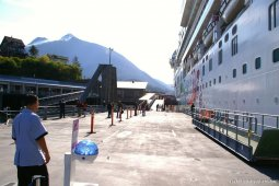 Norwegian Pearl docked at Ketchikan port side view.jpg