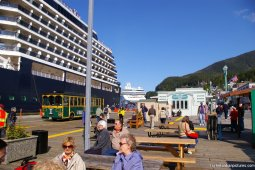 Westerdam cruise ship and Norwegian Pearl docked at Ketchikan.jpg